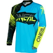 O'Neal Element Burnout Jersey Black/Blue/Hi-Viz