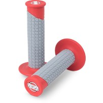 Pro Taper Clamp On Grips - Pillow Top Red/Grey