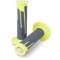 Pro Taper Clamp On Grips - Full Diamond Neon Yellow/Dark Grey
