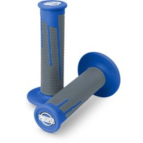 Pro Taper Clamp On Grips - Full Diamond Blue/Dark Grey