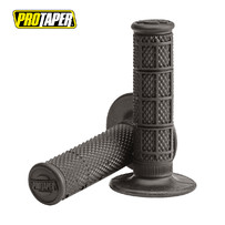 Pro Taper 1/3 Waffle MX Grips, Super Soft Compound (Grey)