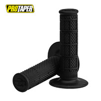Pro Taper 1/3 Waffle MX Grips, Super Soft Compound (Black)