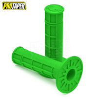 Pro Taper MX Single Density Half Waffle Grips, Soft Compound (Neon Green)