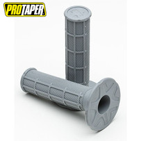 Pro Taper MX  Single Density Half Waffle Grips, Single Density, Soft Compound (Light Grey)