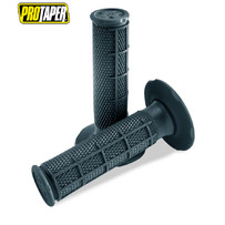 Pro Taper MX  Single Density Half Waffle Grips, Single Density, Soft Compound (Dark Grey)