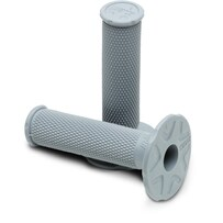 Pro Taper MX Single Density Full Diamond Grips, Soft Compound (Light Grey)