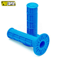 Pro Taper MX Single Density Half Waffle Grips, Soft Compound (Neon Blue)