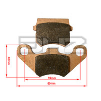 DHZ Brake Pads, Suit Front Brakes on DPRO140
