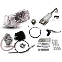 Honda Postie CT110 GPX 125 Engine Conversion Kit, with OKO 26mm Flat Slide Race Carburettor