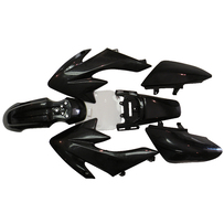 CRF50 7 Pieces Black Colored Plastic Kit