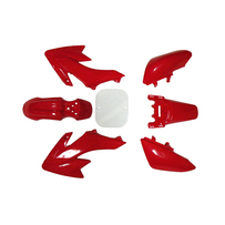 CRF50 7 Pieces Red Colored Plastic Kit