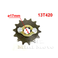 13T Sprocket #420,  17mm Shaft