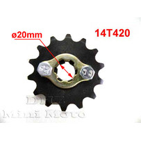 14T Sprocket #420,  20mm Shaft