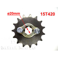 15T Sprocket #420,  20mm Shaft