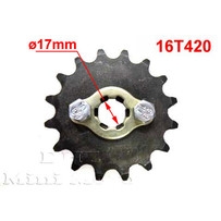 16T Sprocket #420,  17mm Shaft