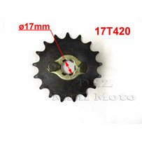 17T Sprocket #420,  17mm Shaft