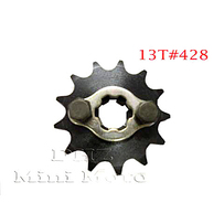 13T Sprocket #428, 17mm Shaft