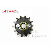 14T Sprocket #428, 17mm Shaft
