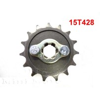 15T Sprocket #428, 17mm Shaft
