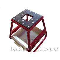 Red Aluminium Bike Stand & Tool Tray