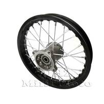 "10"" Front, 15mm Axle Hub, Black Alloy Rim"