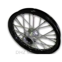 "14"" Front, 15mm Axle Hub, HD Black Alloy Rim"