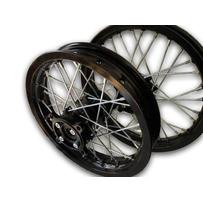 "Black Rim  Black Hub 14"" Front 12"" Rear Wheel Set"