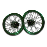 "Green Billet CNC Hub 14"" Front 12"" Rear Rim"