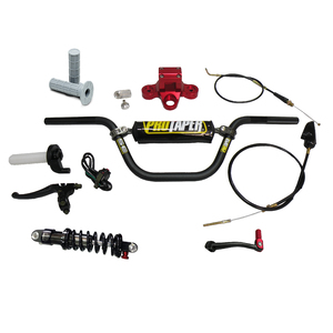 Billet 7075 Triple Clamp and Pro Taper® Handlebar, Rear Shock and Gear Shift Combo Kit