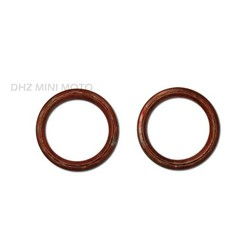 2 X Exhaust Gasket Ring (Gold)